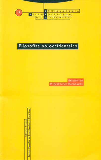 Filosofías No Occidentales. Eiaf Vol.19